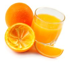 Free Fresh Made Orange Juice Royalty Free Stock Photo - 16903295