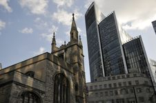 Church Near St Mary Axe, London Stock Photo