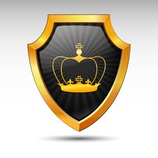 Free Shield. Vector. Royalty Free Stock Images - 16904449