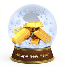 Free Christmas Snow Globe On White Background Royalty Free Stock Images - 16904559