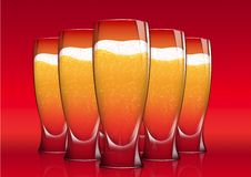 Free Five Glasses Of Beer Royalty Free Stock Photo - 16904775