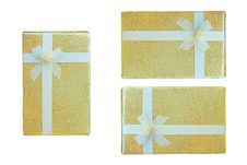 Free Gold Gift Box. Stock Image - 16904931