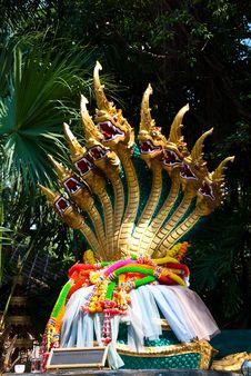 King Of Nagas Nine Head. Stock Image