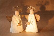 Two Christmas Angels Stock Image
