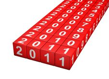 Free Dice New Year Royalty Free Stock Photography - 16905177