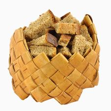Free Rusks In Small Birch-bark Box Royalty Free Stock Image - 16905196