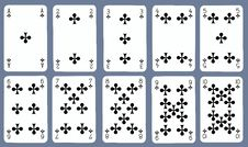 Free Playing Cards - Clubs Royalty Free Stock Image - 16905836
