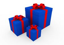 Free 3d Blue Red White Gift Box Royalty Free Stock Image - 16906316