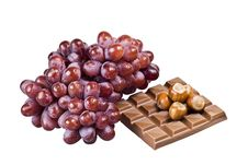 Free Chocolate, Nuts And Grapes Stock Photos - 16906543