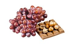 Free Chocolate, Nuts And Grapes Royalty Free Stock Photos - 16906608
