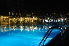 Free Swimming Pool At Night Royalty Free Stock Photos - 16907258