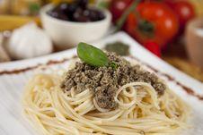 Free Delicious Italian Pasta With Pumpkin Pesto On Top Stock Image - 16907611