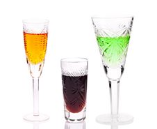 Free Three Glasses With Different Drinks Stock Image - 16907801