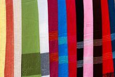 Free Laos Handmade Textile Pattern Royalty Free Stock Photography - 16908097