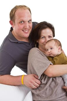 Young Family With Baby Girl Stock Photo
