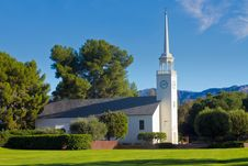 Free Country Church In Morning Light With Blue Sky Royalty Free Stock Photos - 16908468