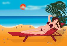 Free Girl Sunbathes Royalty Free Stock Image - 16908626
