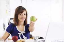 Free Breakfast Of Young Woman Stock Photography - 16909792