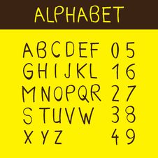 Free Alphabet And Numbers Font Royalty Free Stock Photos - 16909948