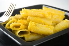 Pasta Con Zucca, Pumpkin Pasta Stock Images