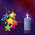 Free Christmas Greeting With Decoration Stock Image - 16911561
