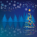 Free Christmas Tree In The Forest Royalty Free Stock Photos - 16911868
