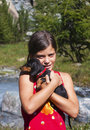 Free Girl With Dog Stock Photo - 16913980