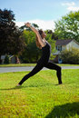 Free Young Girl Doing Yoga Exercise Alone Stock Photography - 16915472