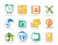 Free Mobile Phone And Computer Icons Royalty Free Stock Photos - 16915998