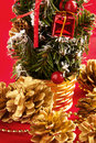 Free Decorative Christmas Tree And Cones Royalty Free Stock Photos - 16917668