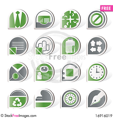 Free Simple Business And Office Icons Royalty Free Stock Images - 16916019