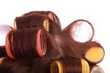 Free Curlers In Hair Royalty Free Stock Photography - 16910347