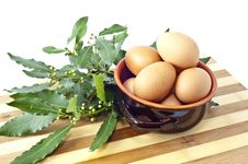 Bowl Of Eggs Royalty Free Stock Image