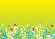 Free Spring Meadow_yellow Background Stock Images - 16912524