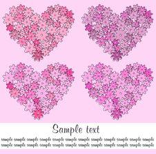 Free Four Hearts Stock Photos - 16912653