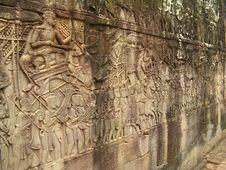 Free Stone Carvings - Angkor Wat Royalty Free Stock Photos - 16912758