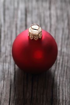 Free One Red Christmas Ball Royalty Free Stock Image - 16912966
