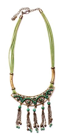 Free Retro Necklaces From Green Gems Royalty Free Stock Photo - 16913075