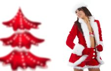 Free Girl Wearing Santa Claus Clothes Stock Photography - 16913142