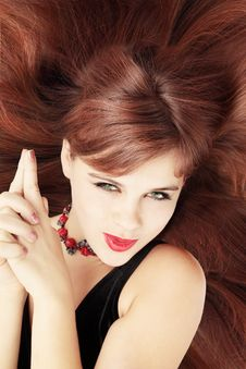 Free Red-haired Coquette Royalty Free Stock Image - 16913166