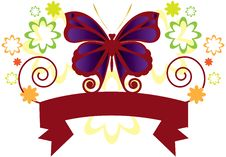 Free Butterfly Banner Stock Image - 16913611
