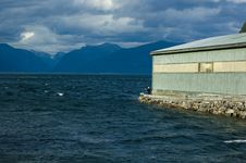 View Of Sognefjord With A Fisherman Royalty Free Stock Image