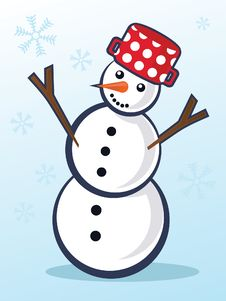 Free Christmas Snowman Royalty Free Stock Photos - 16914468