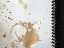 Free Coffee Stains On Note Book Royalty Free Stock Image - 16915086