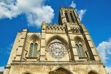 Free Frontal View Of Soissons Cathedral Stock Images - 16915384