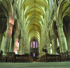 Free Interior Of Cathedral Soissons Stock Images - 16915454