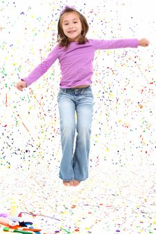 Free Jumping Girl Stock Photo - 16915720