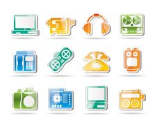Free Media Equipment Icons Stock Photography - 16915932