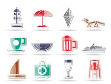 Free Beach And Holiday Icons Stock Images - 16915974
