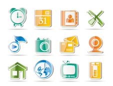 Mobile Phone And Computer Icons Royalty Free Stock Photos